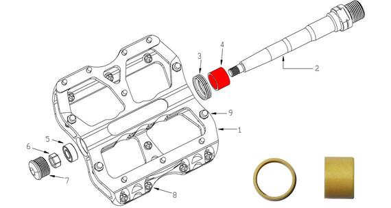 Reverse DU Bushing for escape pedal 2 pcs beige